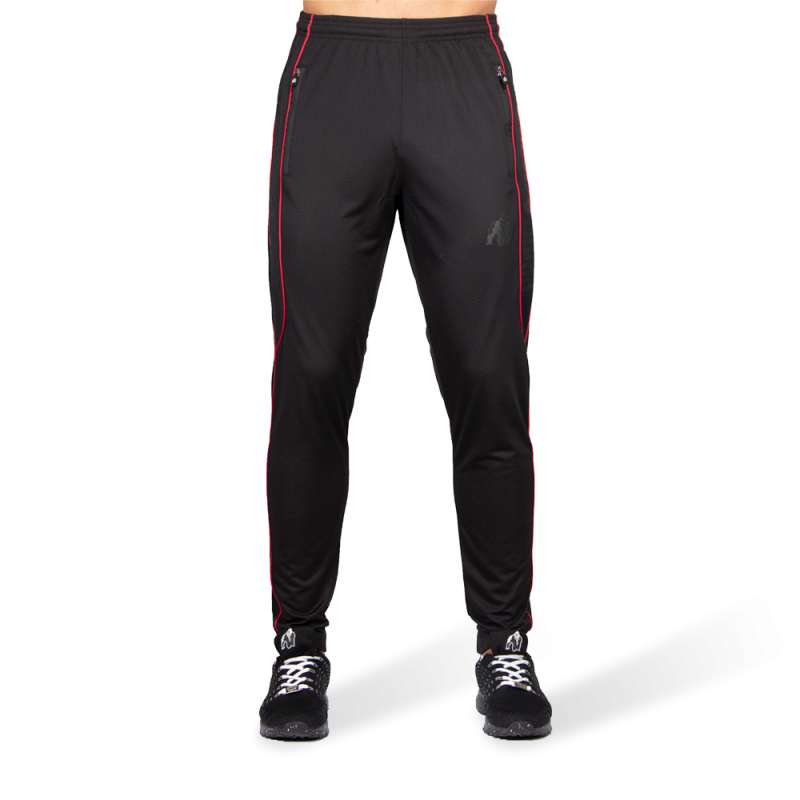 BRANSON PANTS - BLACK/RED