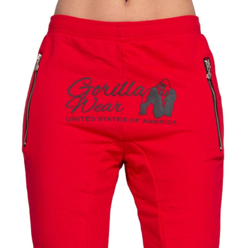 Celina Drop Crotch Joggers- Red