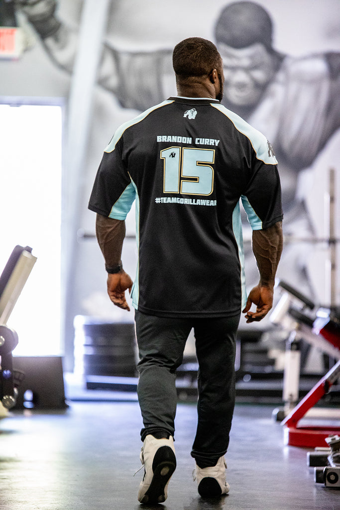 Athlete T-shirt 2.0 Brandon Curry -Black/Light Blue