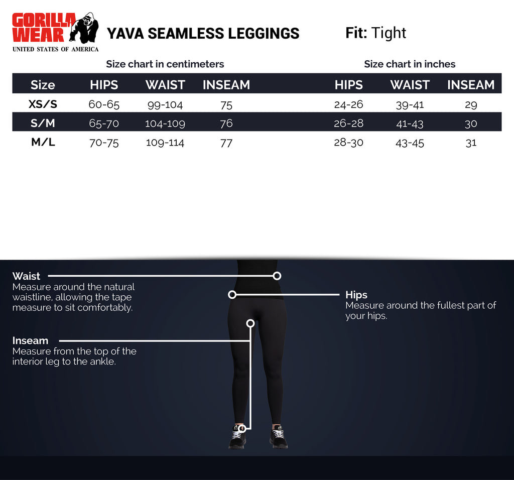 Yava Seamless Leggings - Black