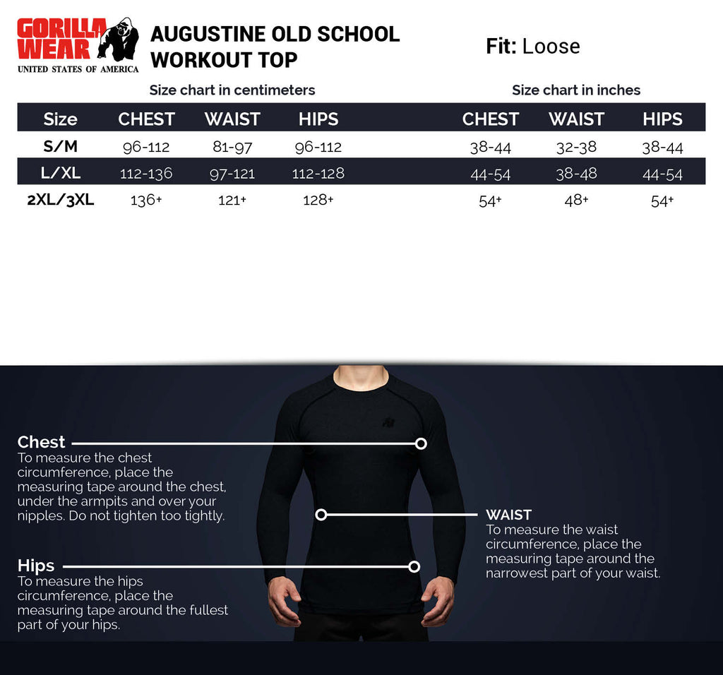 Augustine Old School Workout Top - Black