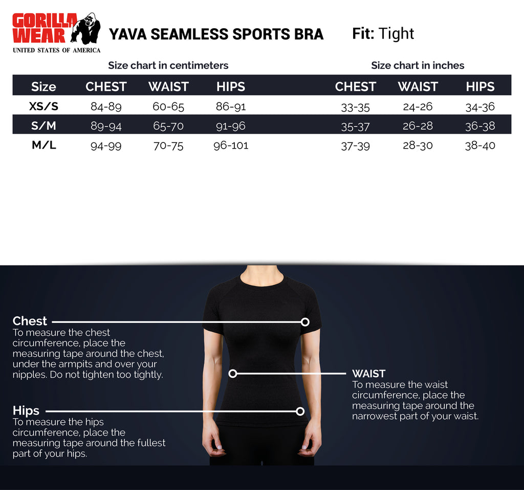 Yava Seamless Sports Bra - Black