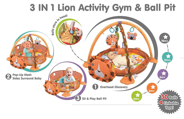 Play Gym Activity Mat and Ball Pit