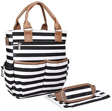 Black & White Stripes Baby Changing Bag