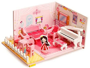 Miniature Wooden Doll's Living Room Set