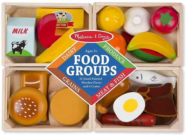 Wooden Toy Food Groups