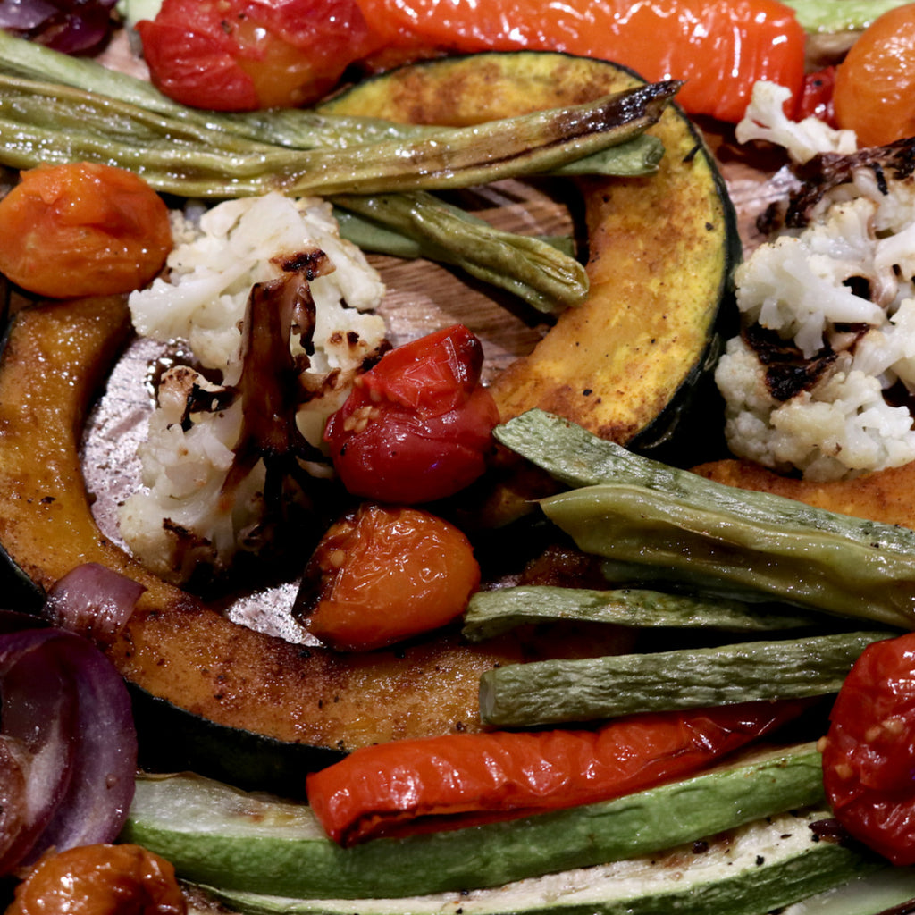 Roasted Vegetables with 3 Kinds of Dip