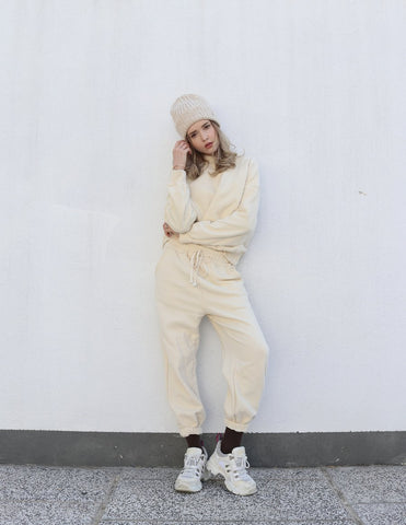 Loose-fit Lounge Set (Sweater + Joggers), toat | 103USD