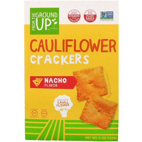 From The Ground Up, Cauliflower Crackers, Nacho Flavor (Vitamins A, C, D, E, B1 and B6 from vegetables)