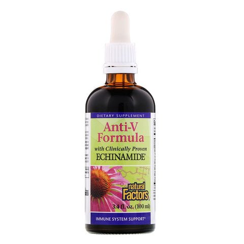A natural way to prevent flu/colds- Natural Factors, Anti-V Formula, with Clinically Proven Echinamide