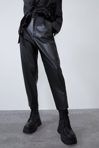 ZARA FAUX LEATHER TROUSERS