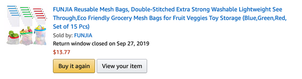 Reusable Mesh Bags from Amazon (click to shop)