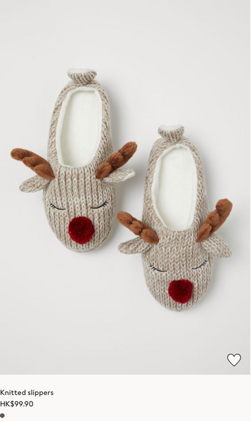 H&M Reindeer Slippers- ok I had to include 1 holiday item because I don't want these to be gone! (click to shop)