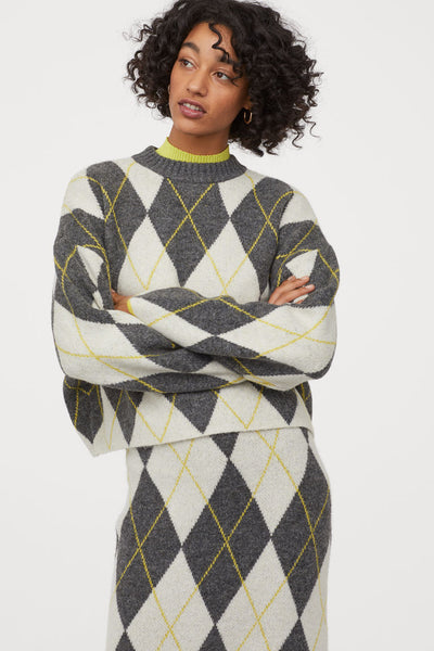PRINGLE OF SCOTLAND X H&M JAQUARED KNIT