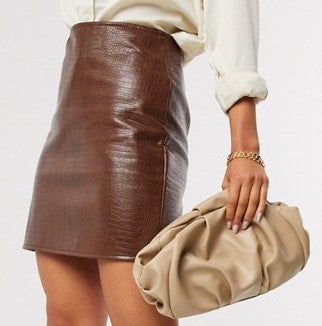 oversized ruched clutch bag | ASOS DESIGN 35USD