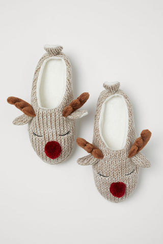 H&M Reindeer Knitted slippers (HKD$99.90)