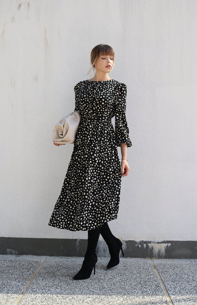 TOAT SPOTTED DRESS