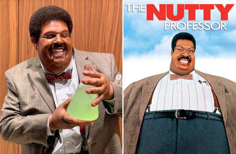 (Left) Instagram @theweeknd (Right) The Nutty Professor Movie Poster