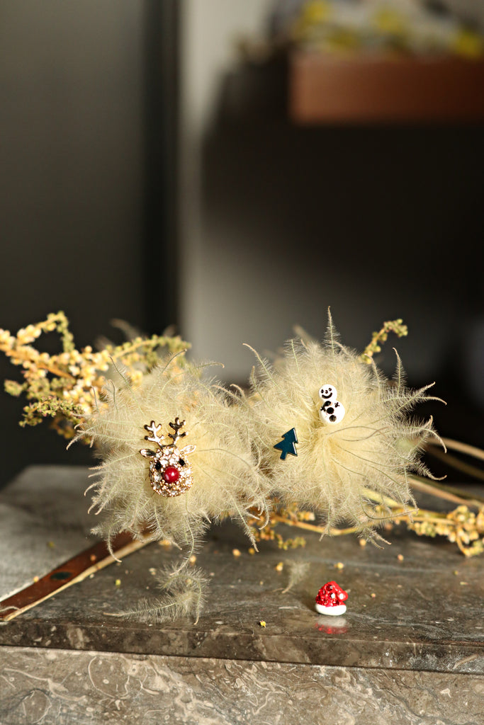 Reindeer Set Christmas Earrings (4 Pieces)