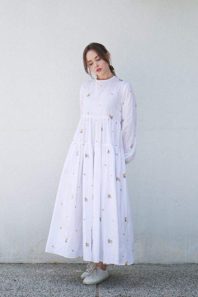 Floral Billowy Maxi Dress