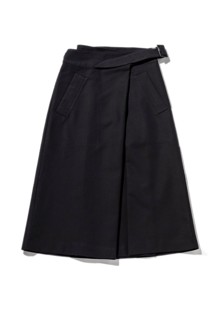 Black Side Belted Skirt