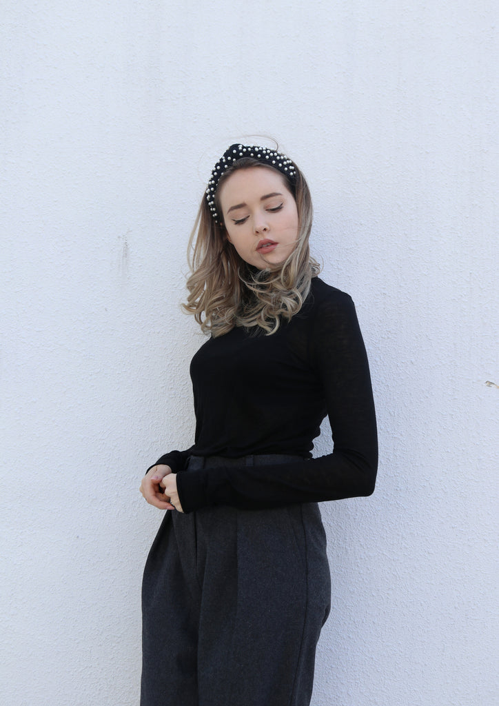Black Sheer Turtleneck