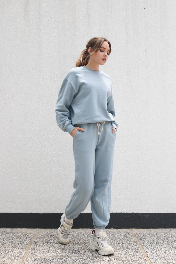 Blue Crewneck & Joggers Set