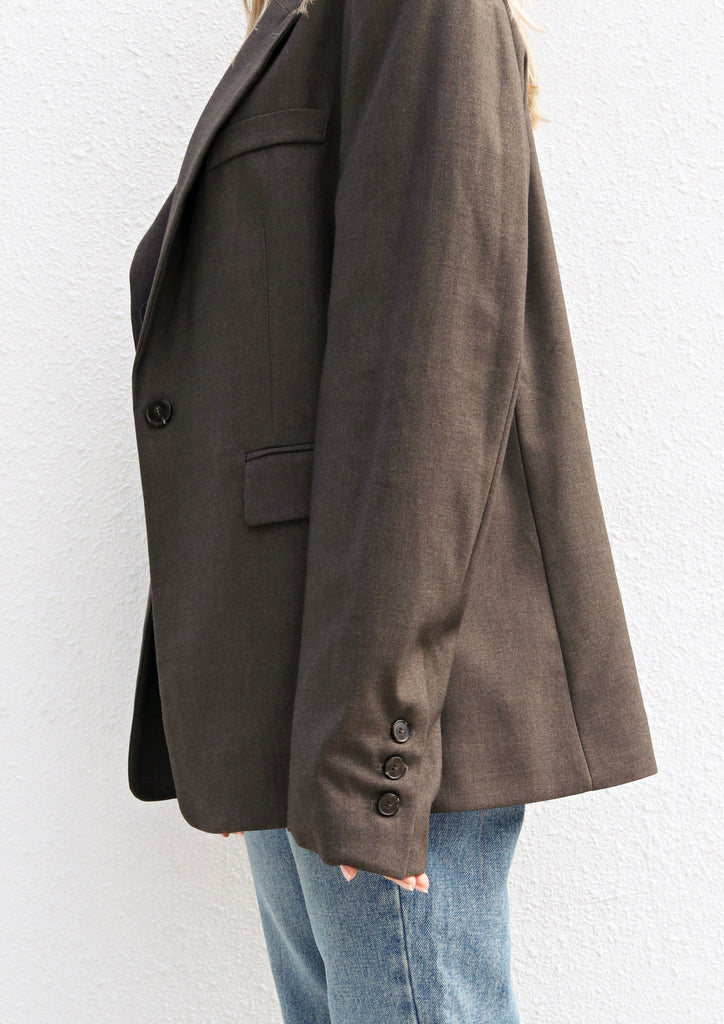 Grey/Brown Oversized Blazer