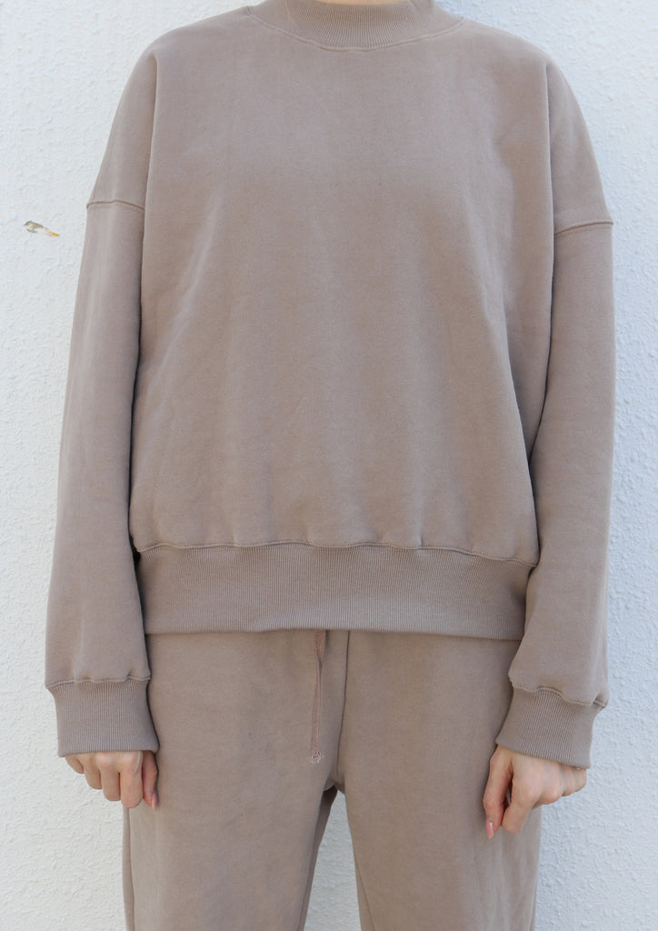 Loose-fit Brown Pullover Sweater