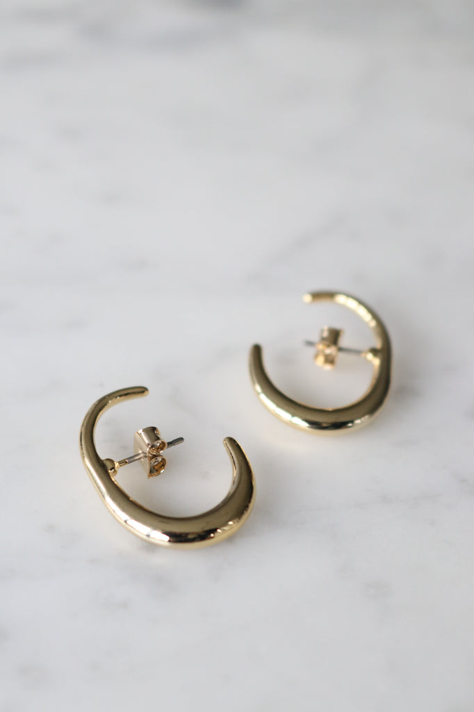 Gold Hook Earrings