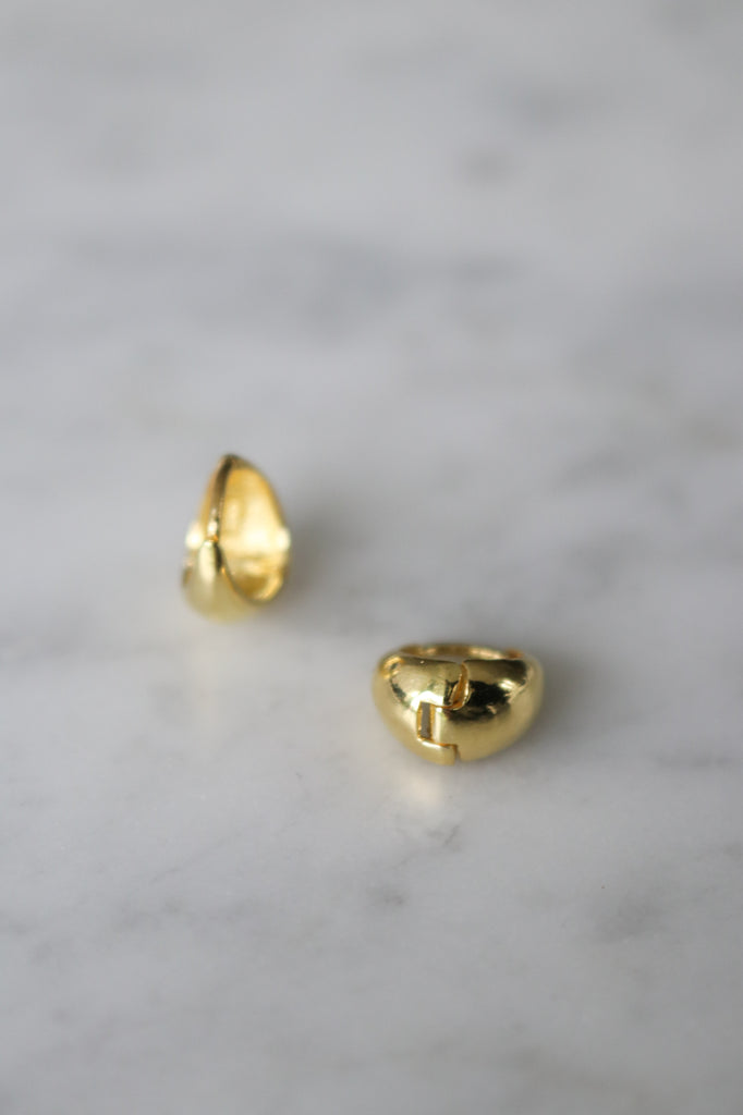 Gold Huggie Earrings