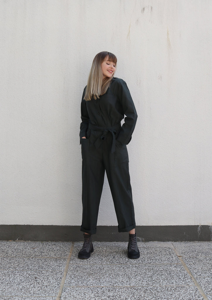 Charcoal Grey Utility Jumpsuit