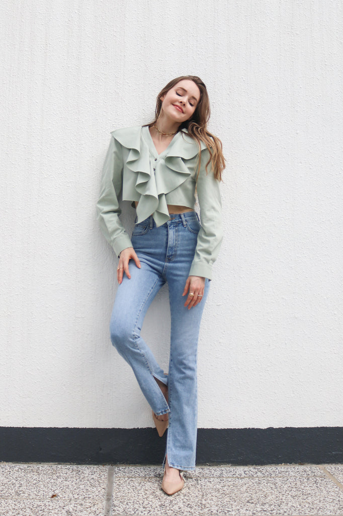 Mint Green Cropped Top