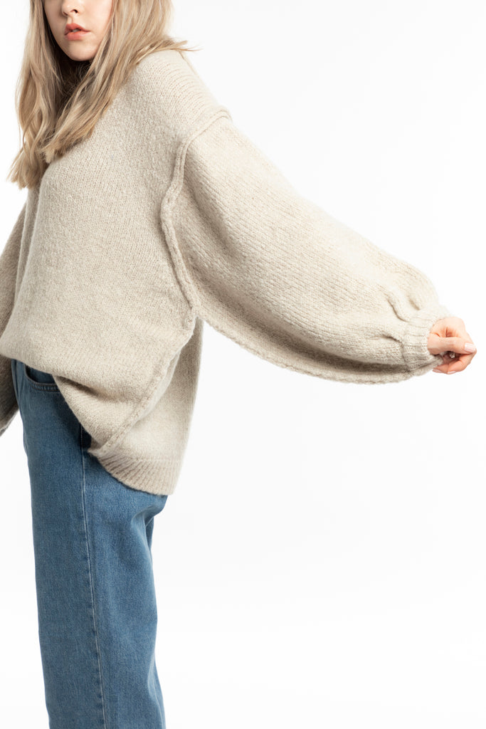 Oversized Inside Out Knit