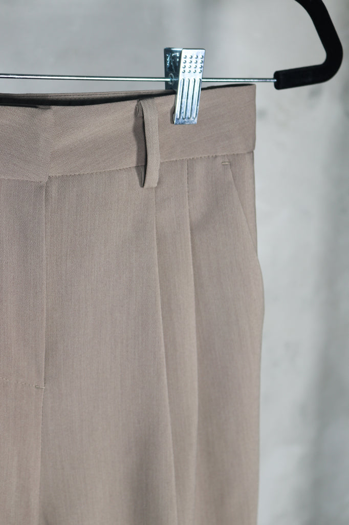 Brown Tapered Trousers