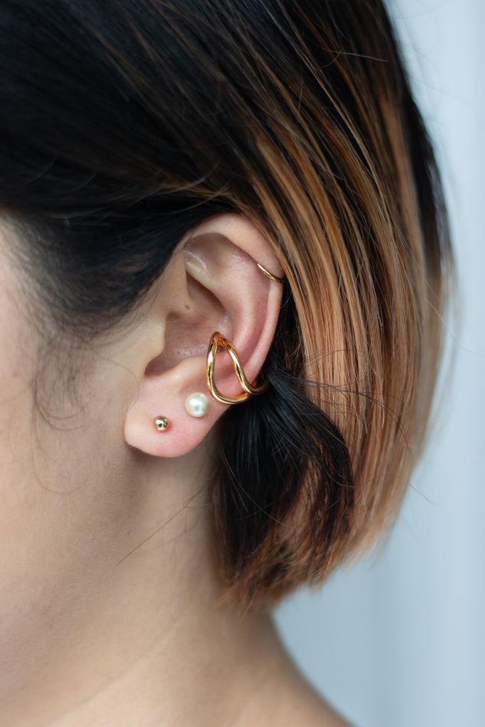 Gold Curl Ear Cuff