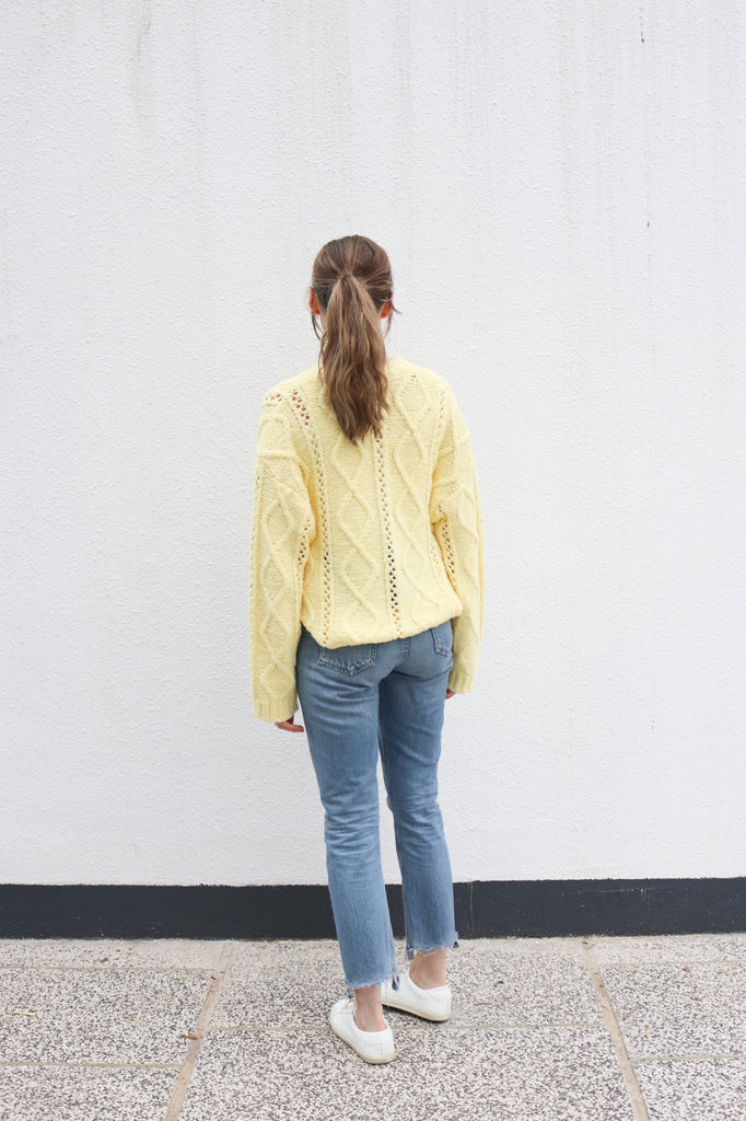 Light Yellow Cardigan