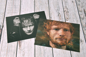 Ed Sheeran Portrait Postcard