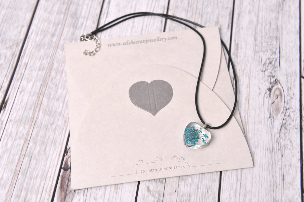 Flower Heart Charm Necklace - Created by Imogen Sheeran