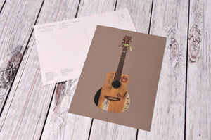 Cyril The Guitar Postcard