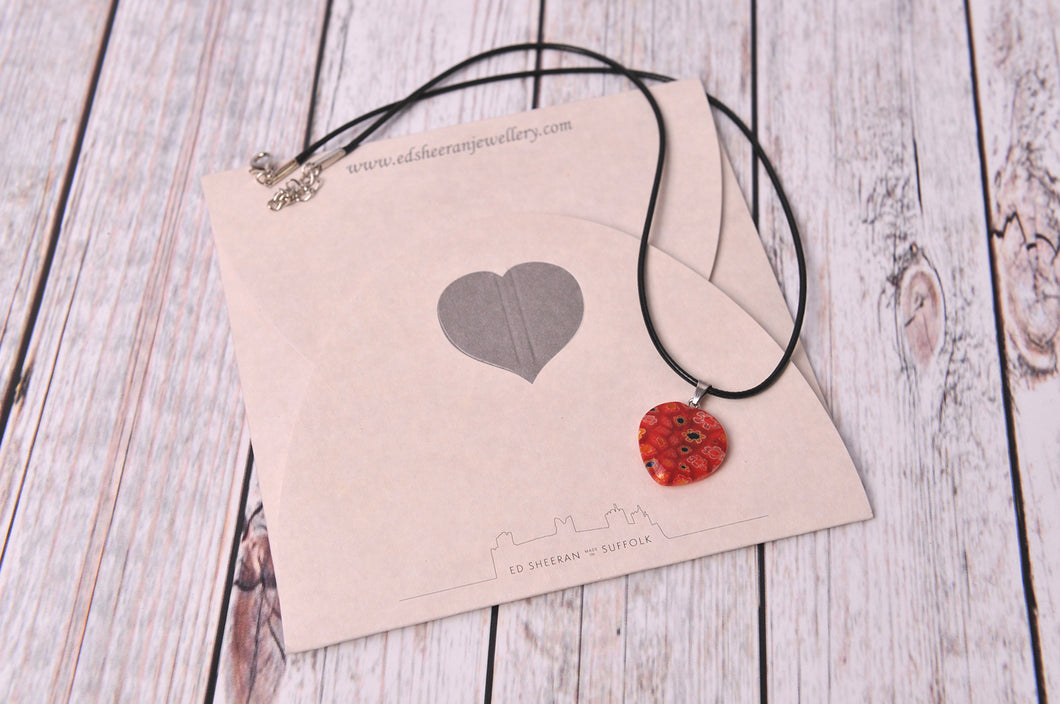Glass Heart Charm Necklace - Created by Imogen Sheeran