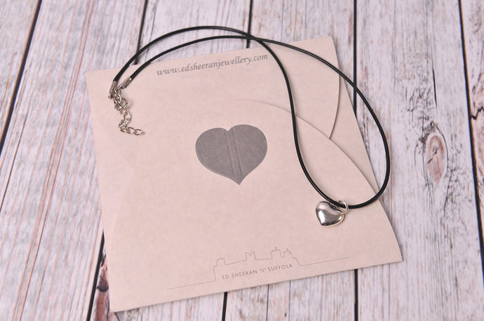 Silver Tone Heart Charm Necklace