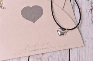 Silver Tone Heart Charm Necklace - Created by Imogen Sheeran