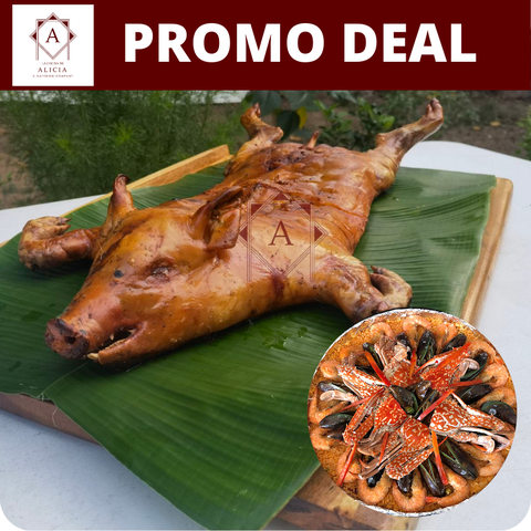 Cochinillo and Seafood Paella Promo