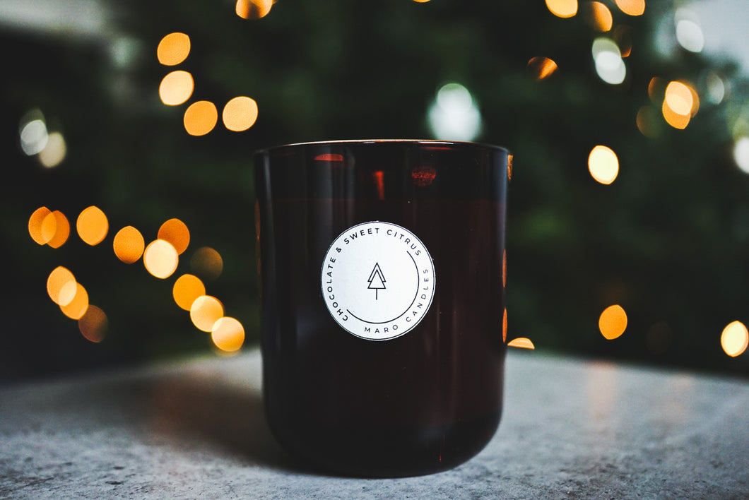 CHOCOLATE & SWEET CITRUS SOY CANDLE