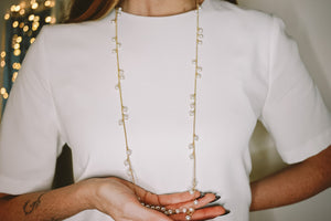 Pearl Berries necklace / long NEW!
