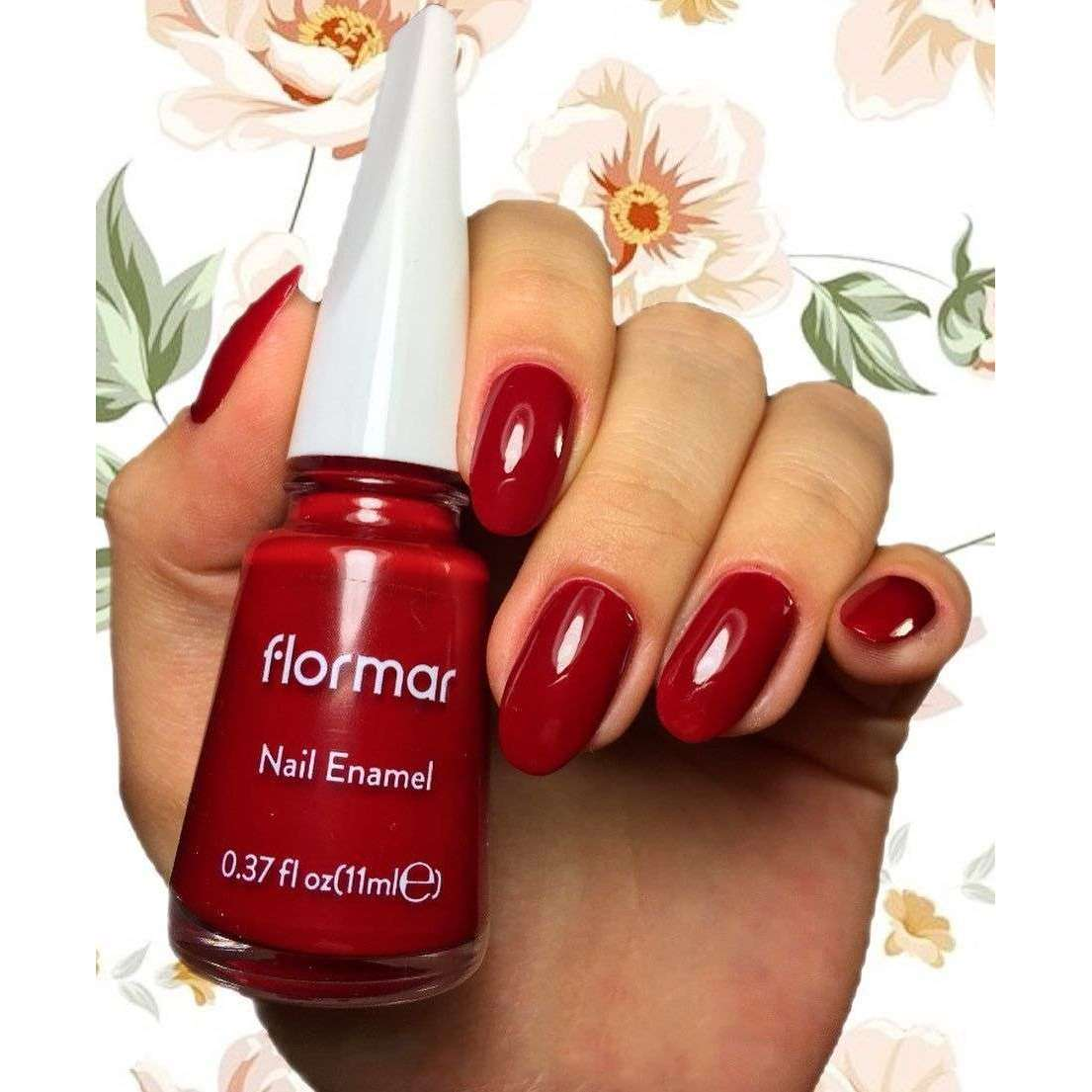Flormar - Classic - 048 - Fiery Red Classic Nail Enamel Flormar US
