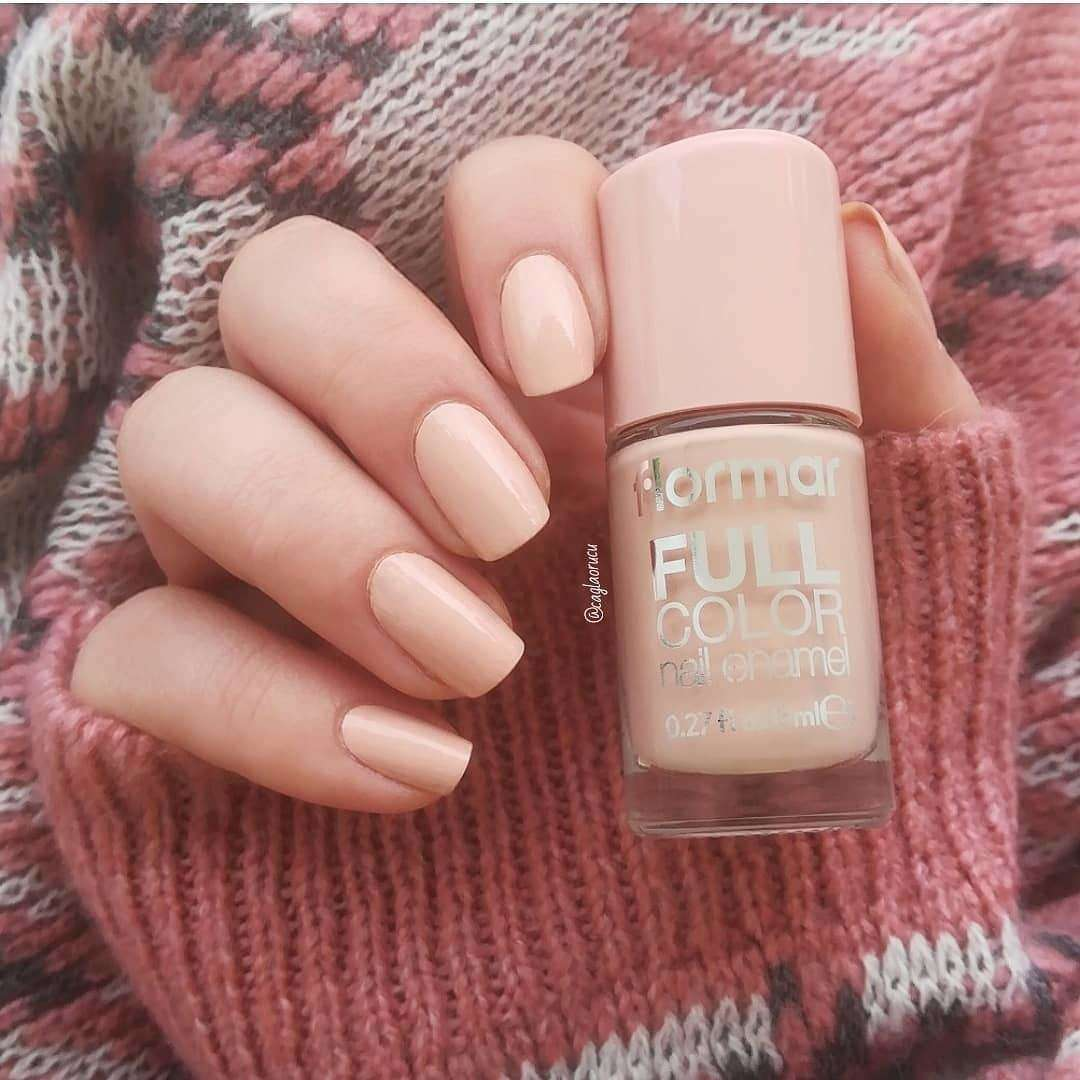 Flormar - Full Color - FC60 - Bubbly Peach Full Color Nail Enamel European Nail Polish