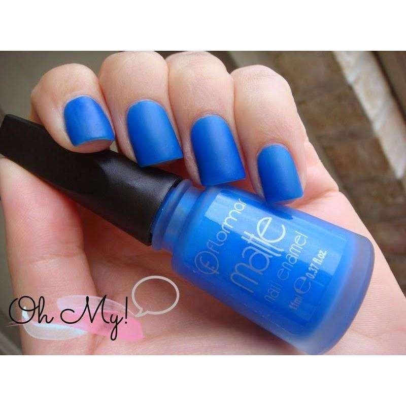 Flormar - Matte - M13 - Out Of Blue Matte Nail Enamel European Nail Polish