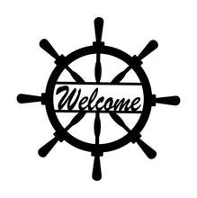 Load image into Gallery viewer, Home Decor - Captain Wheel Welcome Sign